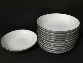"Noritake Whitebrook 6441 Set of 12 Berry Dessert Bowls 6-1/4"" Japan PD19 - $39.99"