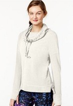 Calvin Klein Womens Active-Performance Cowl-Neck  Cloud Pullover Top – S... - $22.98