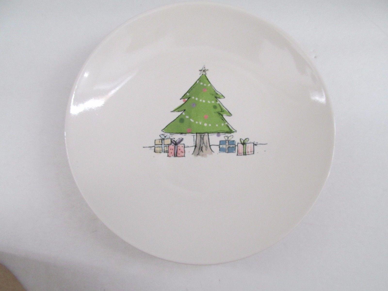... New Rae Dunn Oh Christmas Tree 6  Christmas Appetizer/Dessert Plates set ... & New Rae Dunn Oh Christmas Tree 6
