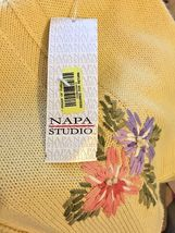 Napa Studio Yellow Cotton Blend Embroidered Sweater Vest Size S New With Tags image 12