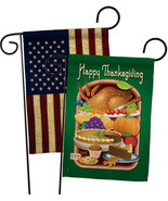 Thanksgiving Feast - Impressions Decorative USA Vintage - Applique Garde... - $30.97