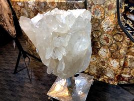 CRYSTAL QUARTZ w/ STAND MINERAL ROCK INCREDIBLE FORMATIONS Sticker $45,000 image 6