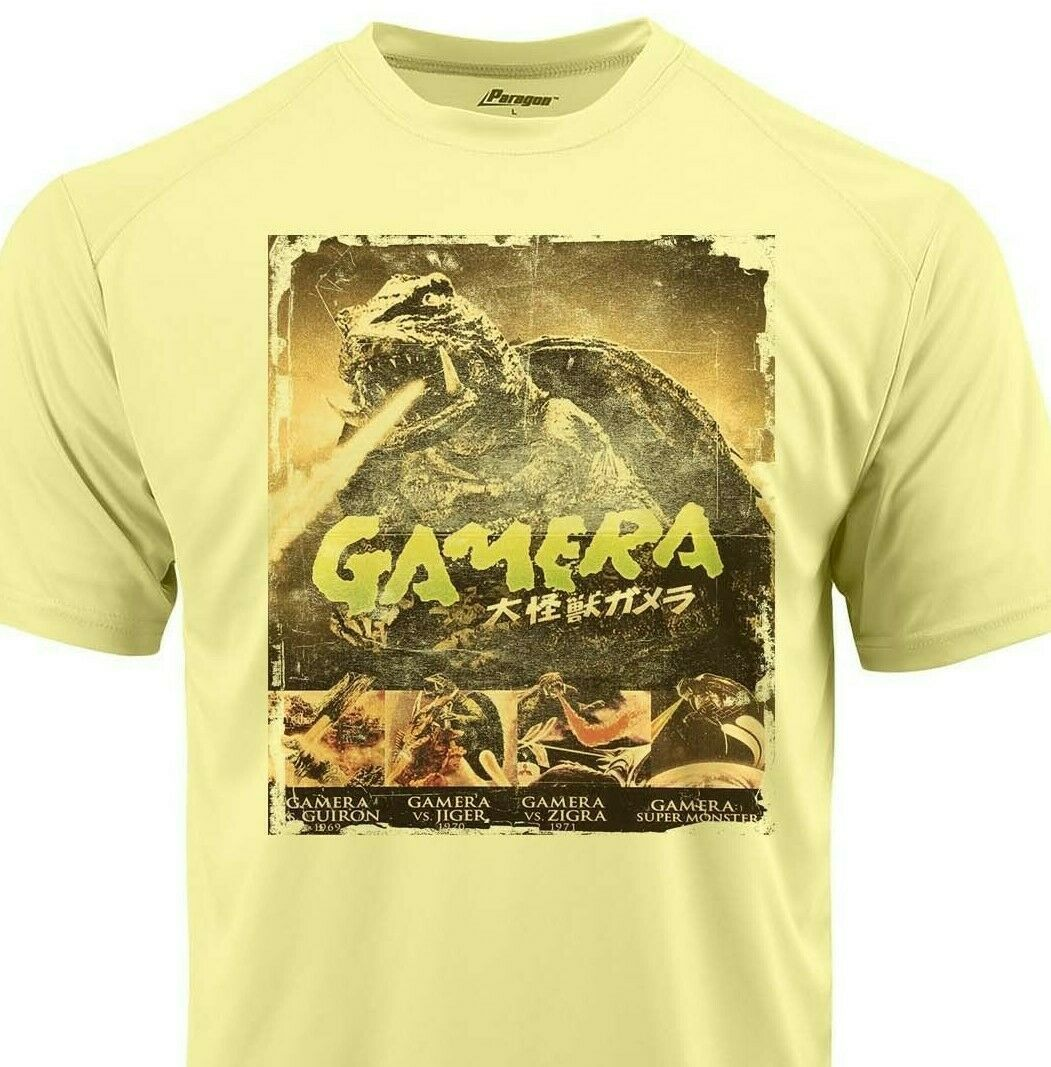 Gamera Dri Fit graphic Tshirt moisture wick SPF retro comic sport Sun Shirt