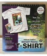 Professor Franklins Photo T Shirt Wearable Art Card PC Software Windows ... - $19.99