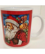 Coffee Mug Christmas Santa Claus Ho Ho Red Holly Jolly Holiday Tea Cup H... - $19.78