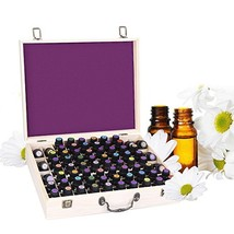 Essential Oil Wooden Box Storage Holds 72 5-10ml Bottles and Roller Balls, Large