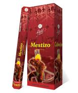 Mestizo Spiritual Elevation Exotic Incense Flute Hexa Box 120 Handcrafte... - $24.99