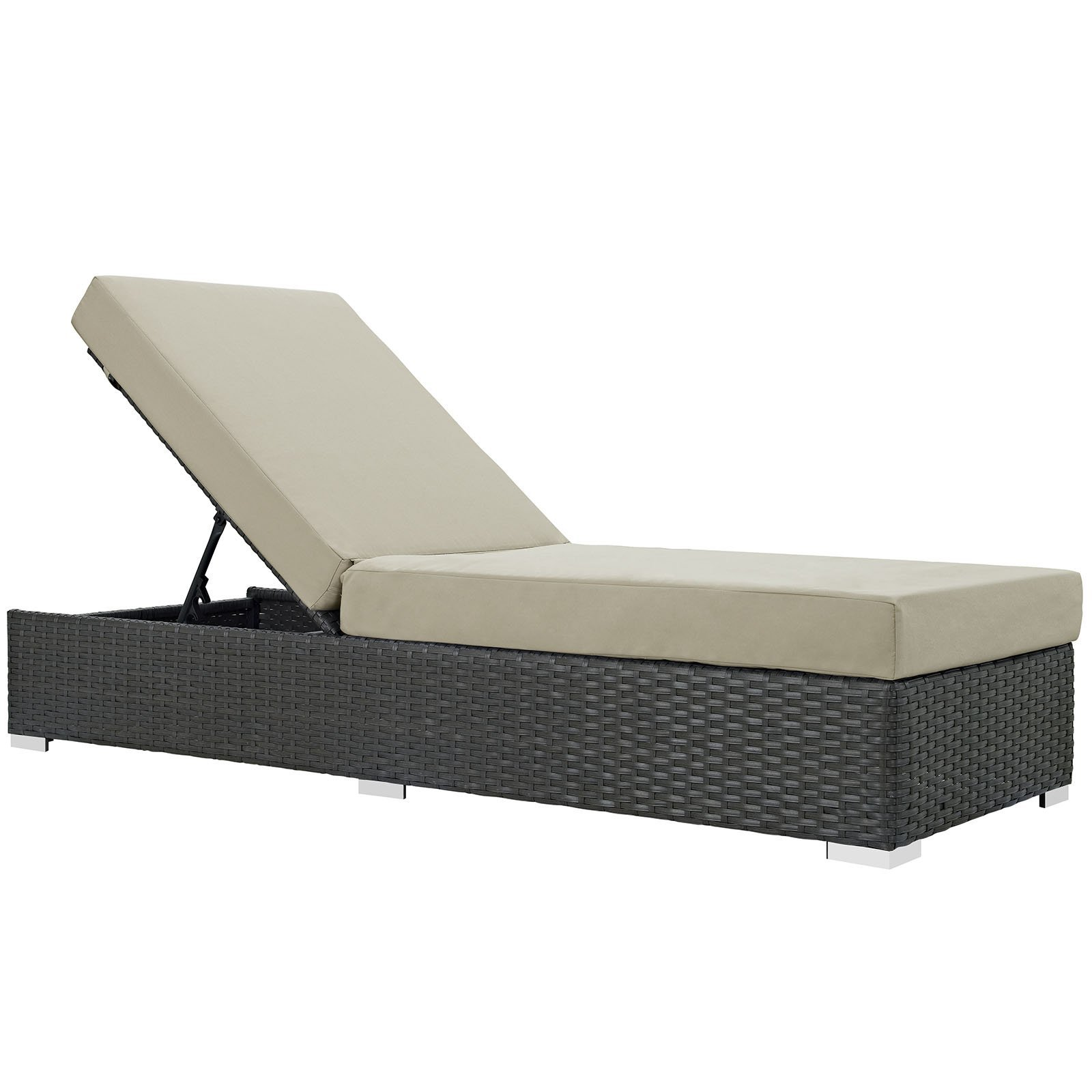 Sojourn Outdoor Patio Sunbrella® Chaise Lounge Canvas Antique Beige EEI-1862-C