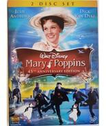 Walt Disney Mary Poppins 45th Anniversary Edition Julie Andres Dick Van Dyke DVD - $14.95
