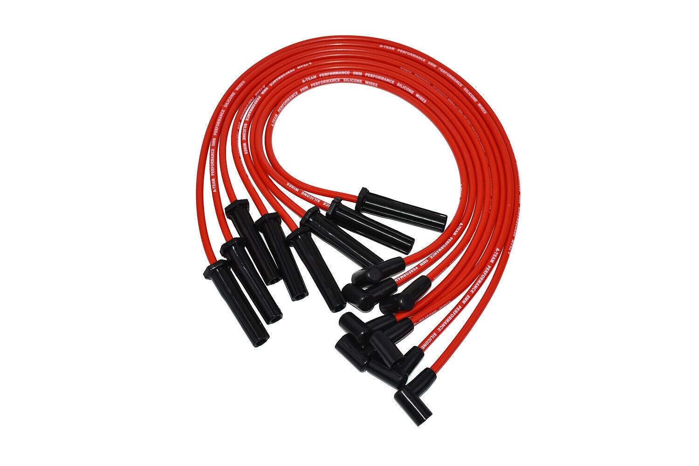 Mopar Chrysler Dodge 318 360 8.0MM Red Silicone Spark Plug Wires