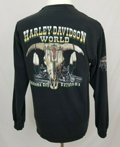 Harley-Davidson Mens Large Long Sleeve T-Shirt Flames Native American Ok... - $34.99