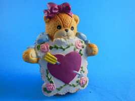 Lucy & Me Enesco Valentine Heart Sandwich board Bear Figurine Lucy Rigg ... - $6.23