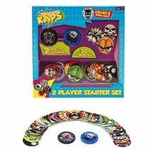 Pog Retro Kaps 2-Player Starter Set Game Includes: 30 Pogs & 2 Slammers - $17.02