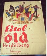 Eitel Old Heidelberg in Chicago, Illinois 1950's Menu - $35.00