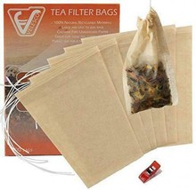 Velesco Tea Filter Bags Disposable Infuser with Drawstring for Loose 100 - $25.47