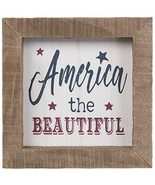 America The Beautiful Wood Wall Decoration Home Decor 4th of July - $17.99