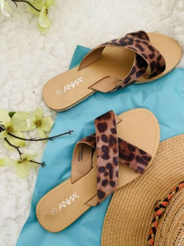Primary image for New Leopard Slide Boutique Sandal Beach Slipper