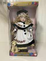 VINTAGE 1999 BRASS KEY PORCELAIN DOLL; CAMELLIA GARDEN; 17 INCHES; with ... - $24.19