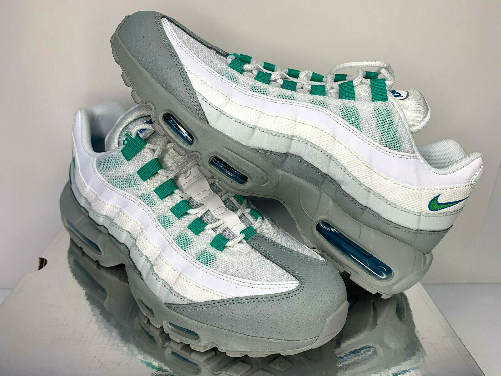 Primary image for NEW SIZE 11.5 MEN Nike Air Max 95 ESSENTIAL Clear Emerald Running Training Shoes
