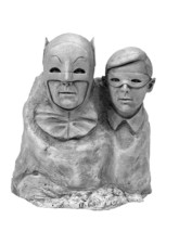 DC Comics  The Dynamic Duo 1966 Batman and Robin Statue Bust - $31.92