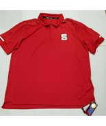 NWT North Carolina State Wolfpack Red Adidas Climalite Golf Polo Shirt X... - $24.74