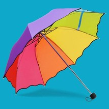 Children Umbrella Colorful Rainbow Folding Lightweight Cute Kids Umbrell... - $16.82