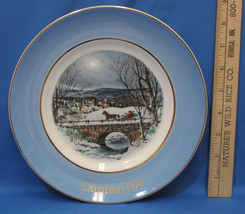 Vintage 1979 Enoch Wedgwood Collectors Plate Avon Christmas Dashing Through Snow - $6.92
