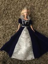 Mattel Millennium Princess Holiday Barbie 2000 Happy New Year Blue Velvet Gown - $18.95