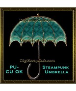 Steampunk Umbrella Element Transparent Full Size PSD Template Commercial... - $3.59