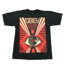 Obey Jamais Trust Chemise Taille M Noir Coupe Décontracté Hommes Ne Believe What - $19.71