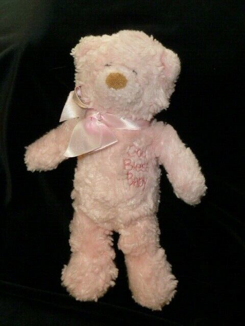 "Primary image for Baby Gund Faith God Bless Baby tINY Pink Bear 8.5"" Stuffed plush"