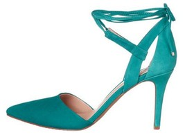 Women's Vince Camuto BELLAMY Pumps Heels Pointy Toe Suede Greece Green - $71.99