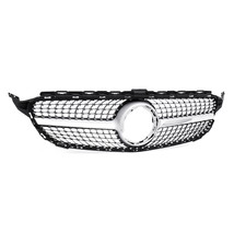 New Diamond Front Grill Grille For Mercedes Benz C Class W205 C200 C300 C2 - $306.00