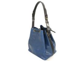 LOUIS VUITTON Petit Noe Epi Blue Noir Shoulder Bag M44152  Authentic 540... - $290.25
