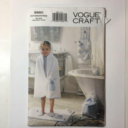 Vogue Craft 8960 Children's Bath Accessories Coverup Mat Wash Mitt