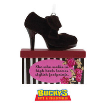 Stylish Footprints High Heel Shoe 2017 Hallmark Christmas Gift Ornament ... - $19.78