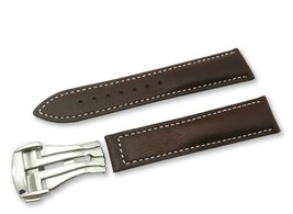 Brown/White Leather Watch Strap Band for Omega Seamaster Clasp 18 19 20 ... - $37.26+