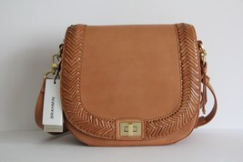 NWT BRAHMIN KNOXVILLE SONNY LEATHER SMALL CROSSBODY BAG TAN - $238.96