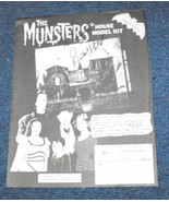 Munsters house model kit 1990s flyer with Butch Patrick autograph - $19.99