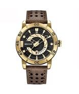 Benyar Men's Leather Analog Quartz Wrist Watch BY-5150M (Brown & Gold) - $40.00