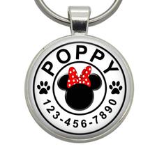 Pet Tag - Minnie Mouse Ears (Disney) - Dog ID Tag, Cat ID Tag, Dog Tag, ... - $19.99