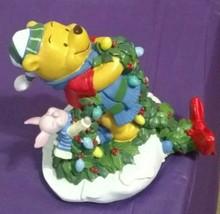 Disney Winnie the Pooh & Piglet 1996 Winter Wonderland Christmas Stockin... - $29.99