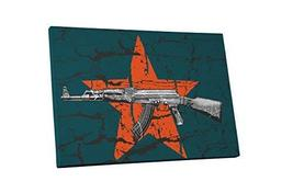 "Pingo World 1222PE5F37A ""Pop AK-47"" Gallery Wrapped Canvas Art, 30"" x 20... - $57.37"