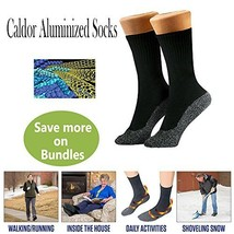 Caldor Unisex Self Warming Aluminized Therapy Heating Socks 3 Pairs - $8.90