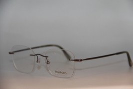 New Tom Ford Tf 5341 036 Brown Eyeglasses Authentic Rx TF5341 49-20 W/CASE - $117.42