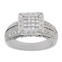 Philippe Charriol Flame Blenche 18K White Diamonds Engagement Ring Size 6 - £594.71 GBP