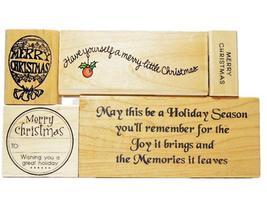 Christmas Holiday Rubber Stamp Bundles image 2