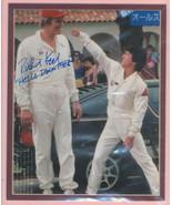 Richard Kiel signed photo. Shown w/Jackie Chan. Beautifully double matte... - $23.95