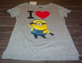 WOMEN'S TEEN DESPICABLE ME I LOVE MINIONS T-shirt SMALL NEW w/ TAG - $19.80
