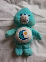 "2002 Bedtime Bear Care Bear Plush Stuffed 10"" Play Along Sleeping Moon Star - $11.32"